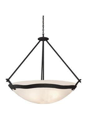 Aegean 5459B/SMKTAUP 40 Pendant in Black with Smoked Taupe Standard Bowl Glass
