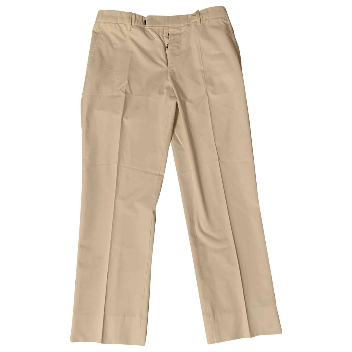 Pantalon en Algodon Blanco Marni