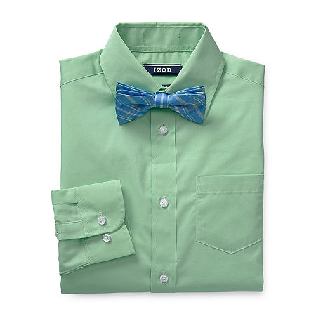 IZOD Boys Long Sleeve Shirt + Tie Set - Big Kid, Small (8) , Green