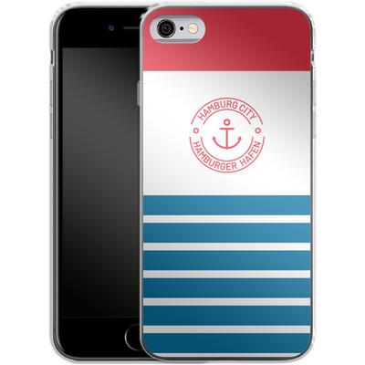 Apple iPhone 6s Silikon Handyhuelle - Hamburger Hafen von caseable Designs