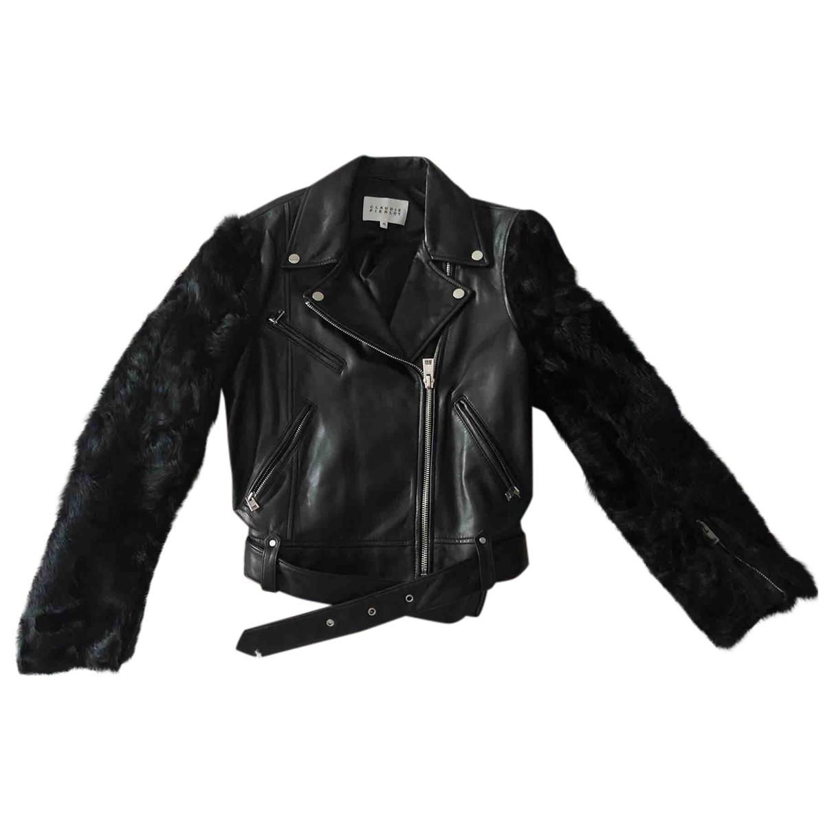Claudie Pierlot \N Black Leather jacket for Women 40 FR