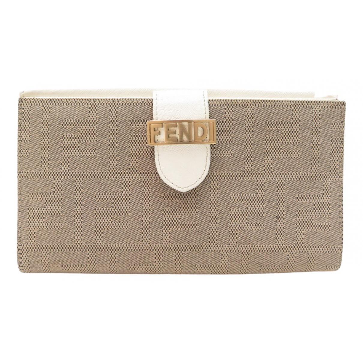Fendi \N Portemonnaie in  Braun Leinen