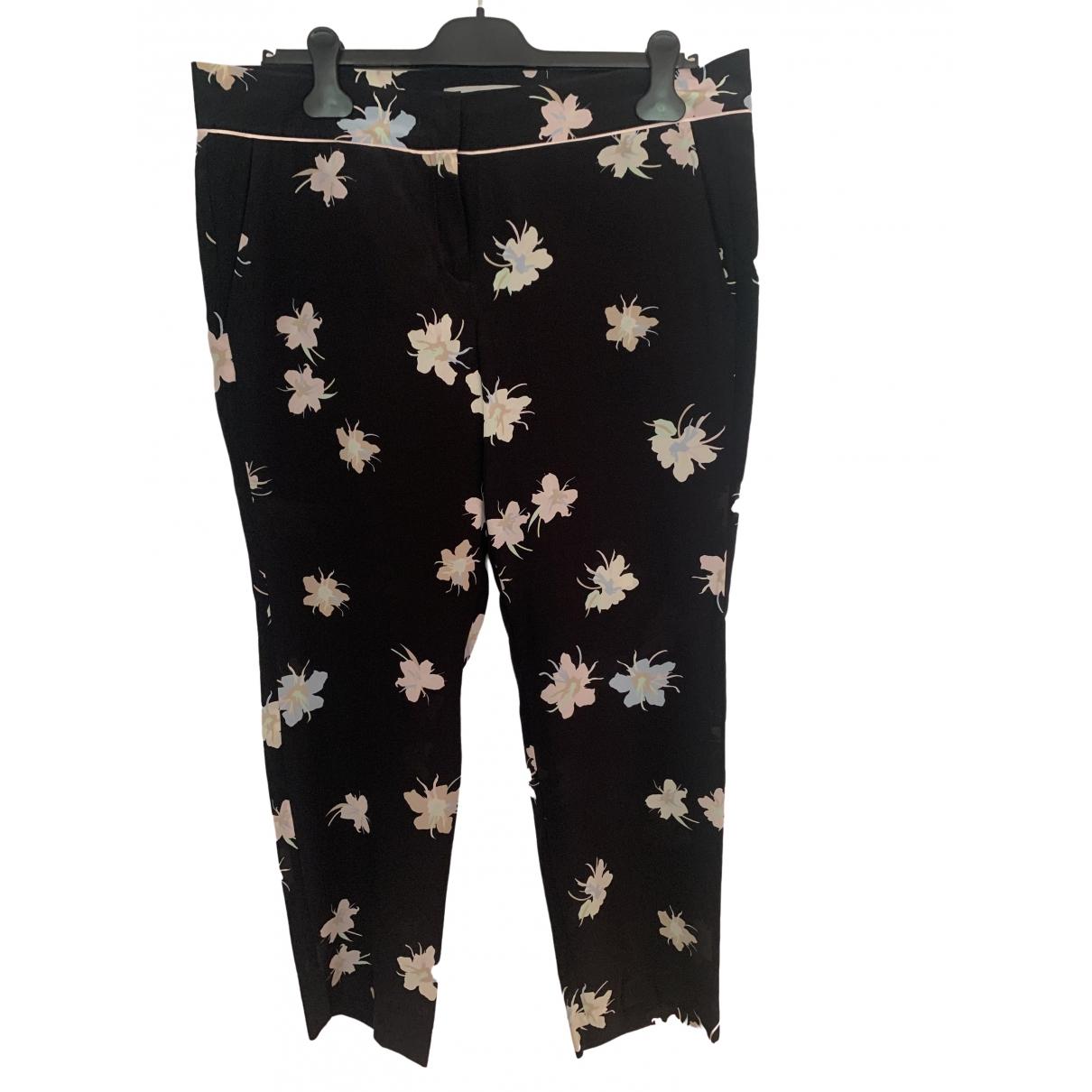 Marella \N Black Silk Trousers for Women 42 FR