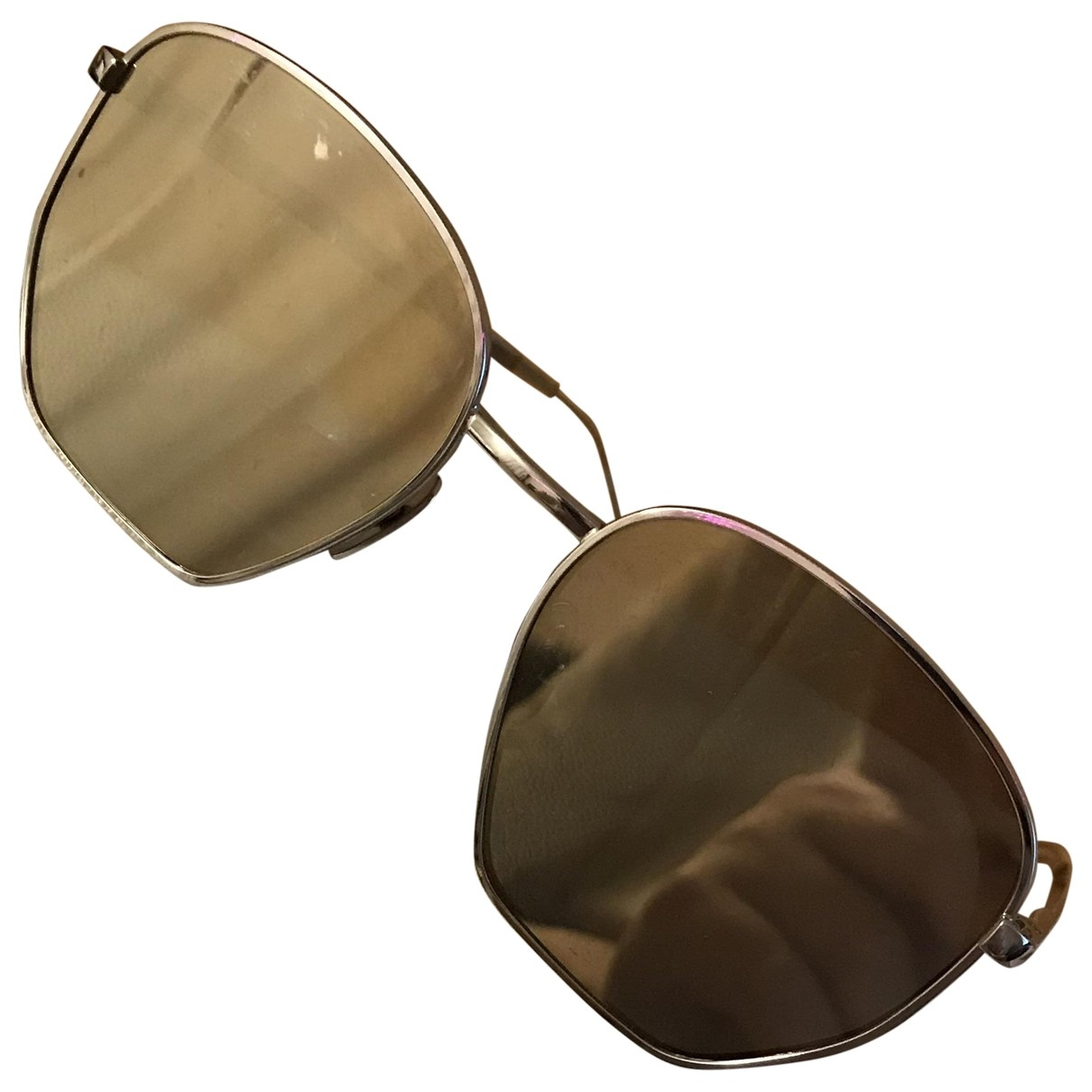 Le Specs \N Gold Metal Sunglasses for Women \N