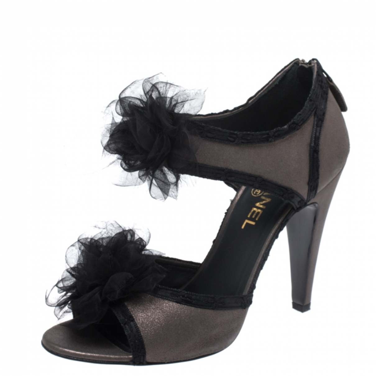 Chanel \N Black Leather Sandals for Women 8 US