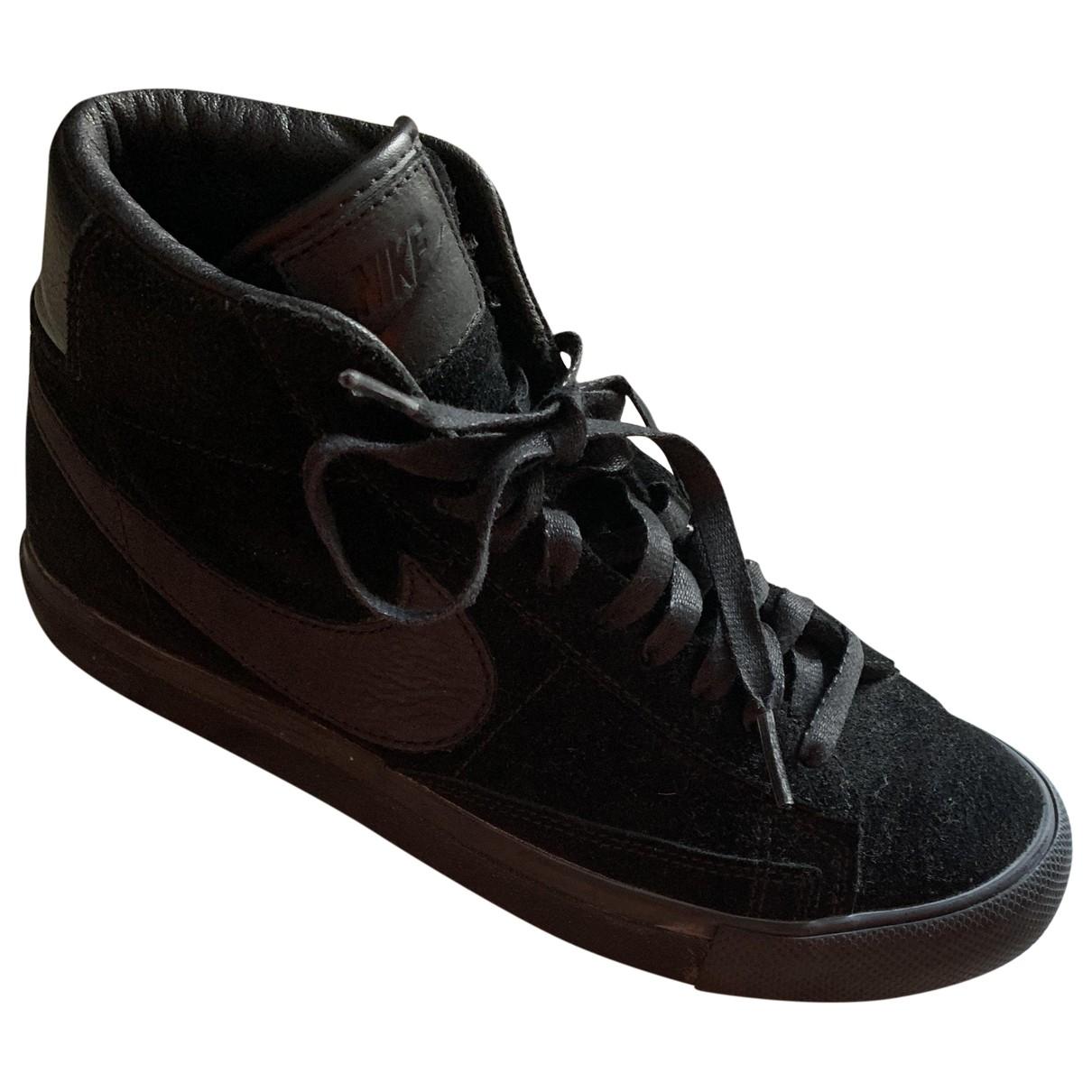 Nike X Comme Des Garcons - Baskets Blazer pour femme en suede - noir