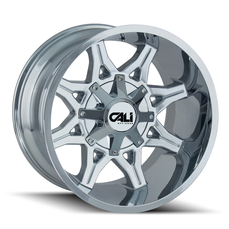 Cali Off-Road 9107-24237C Obnoxious 9107 Chrome 24x12 6x135 | 6x139.7 -44mm 106mm Wheel