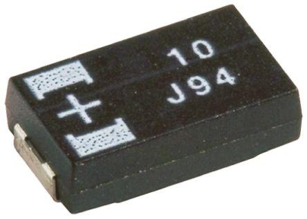 Panasonic Tantalum Capacitor 47μF 20V dc Polymer Solid ±20% Tolerance , POSCAP TQC
