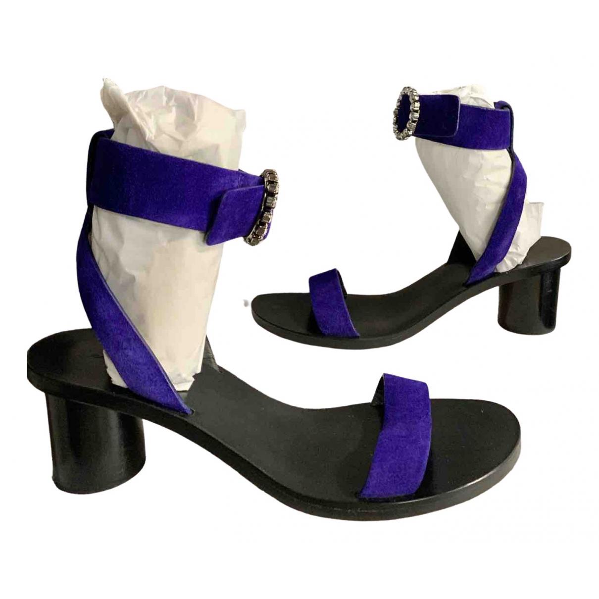 Isabel Marant \N Purple Suede Sandals for Women 39 EU