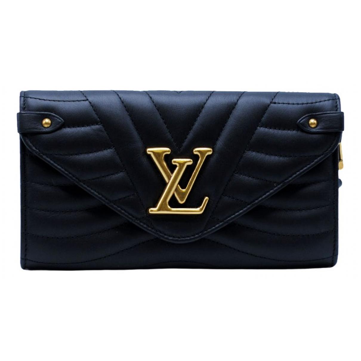 Louis Vuitton - Portefeuille NewWave pour femme en cuir - noir