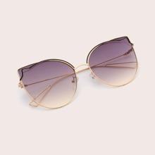 Gafas de sol de ojo de gato metalico