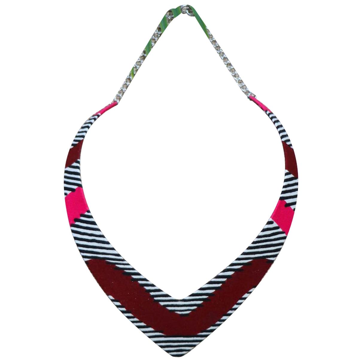 - Collier Motifs Ethniques pour femme en toile - multicolore