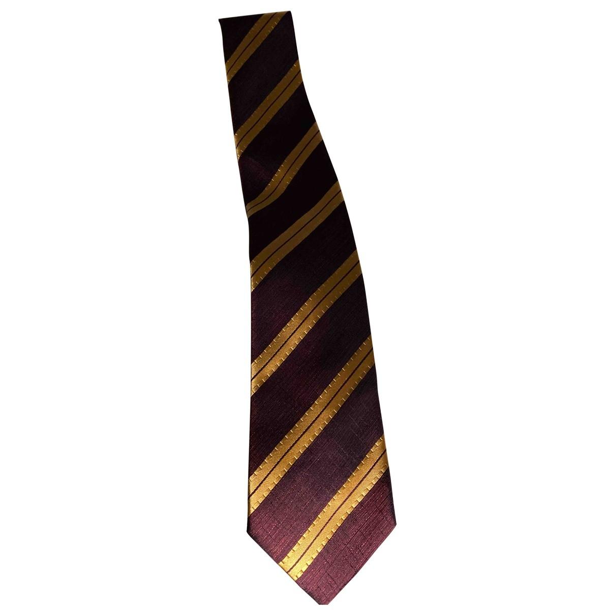 Etro - Cravates   pour homme en soie - bordeaux