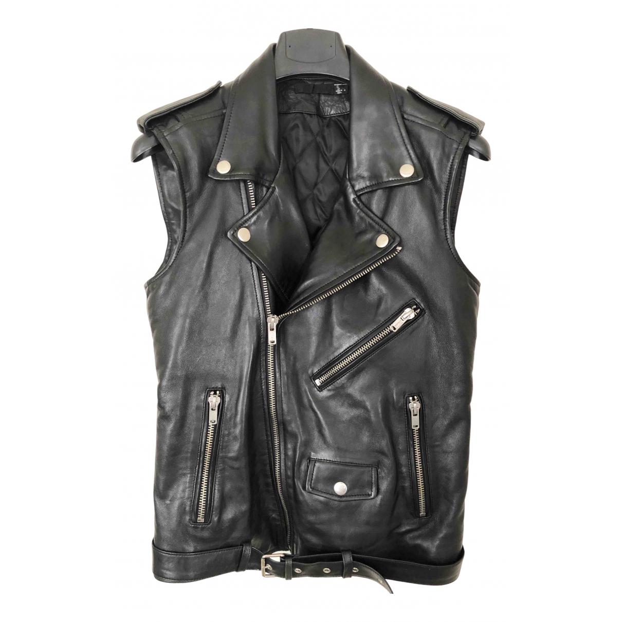 Blk Dnm \N Black Leather Leather jacket for Women S International