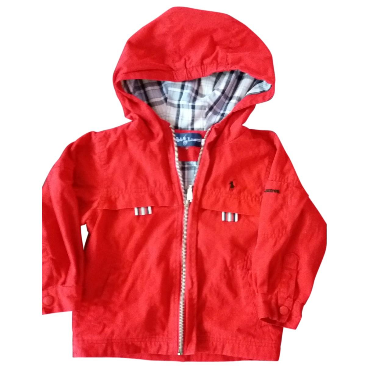 Polo Ralph Lauren - Blousons.Manteaux   pour enfant en coton - rouge