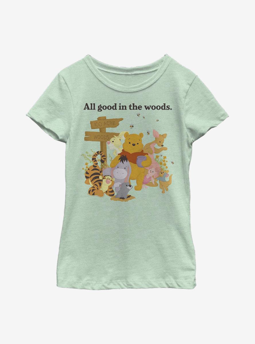Disney Winnie The Pooh In The Woods Youth Girls T-Shirt
