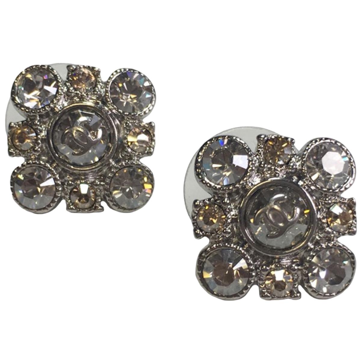 Chanel - Boucles doreilles   pour femme en metal - argente