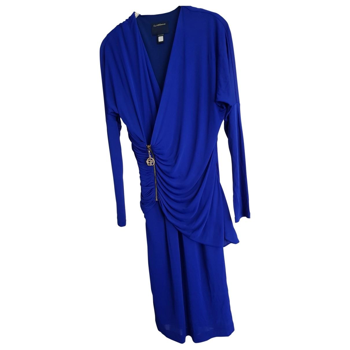 Class Cavalli \N Kleid in  Blau Viskose
