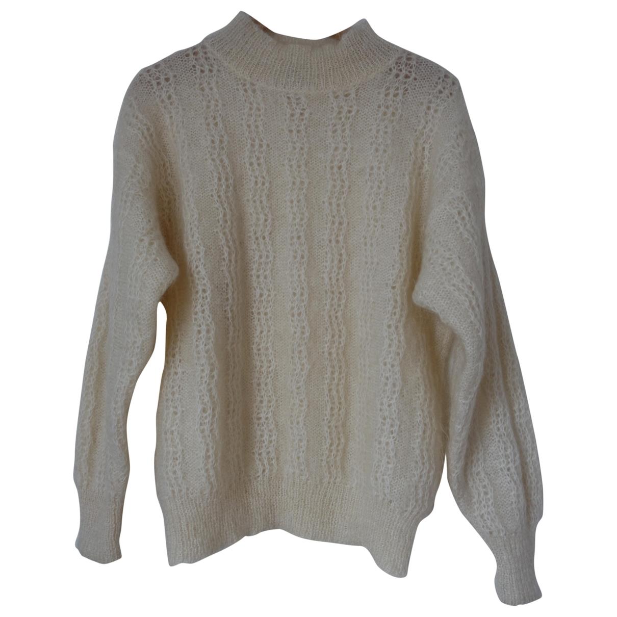 Dior - Pull   pour femme en laine - blanc