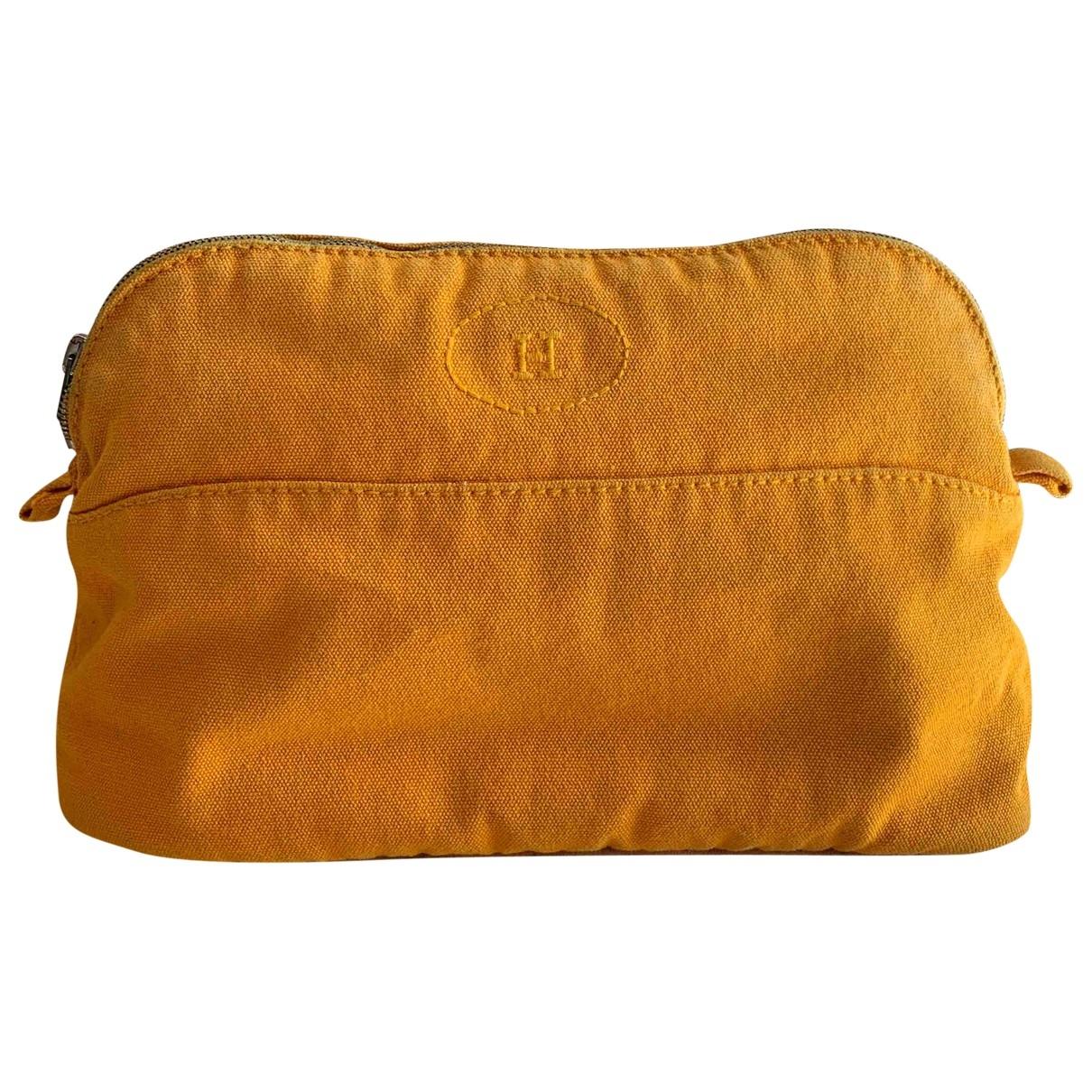 Hermes - Sac de voyage   pour femme en toile - jaune