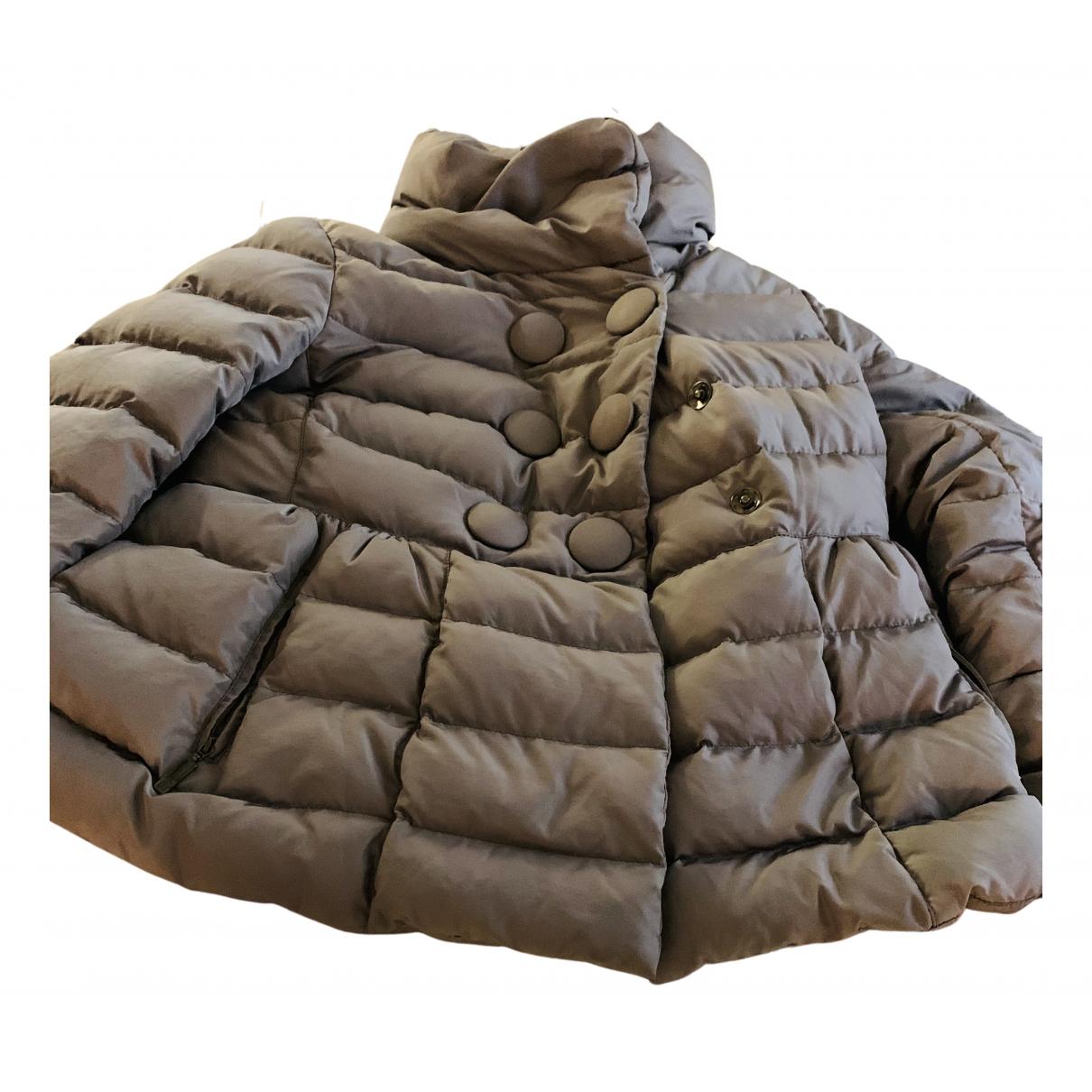 Moncler N Grey coat for Women 42 IT
