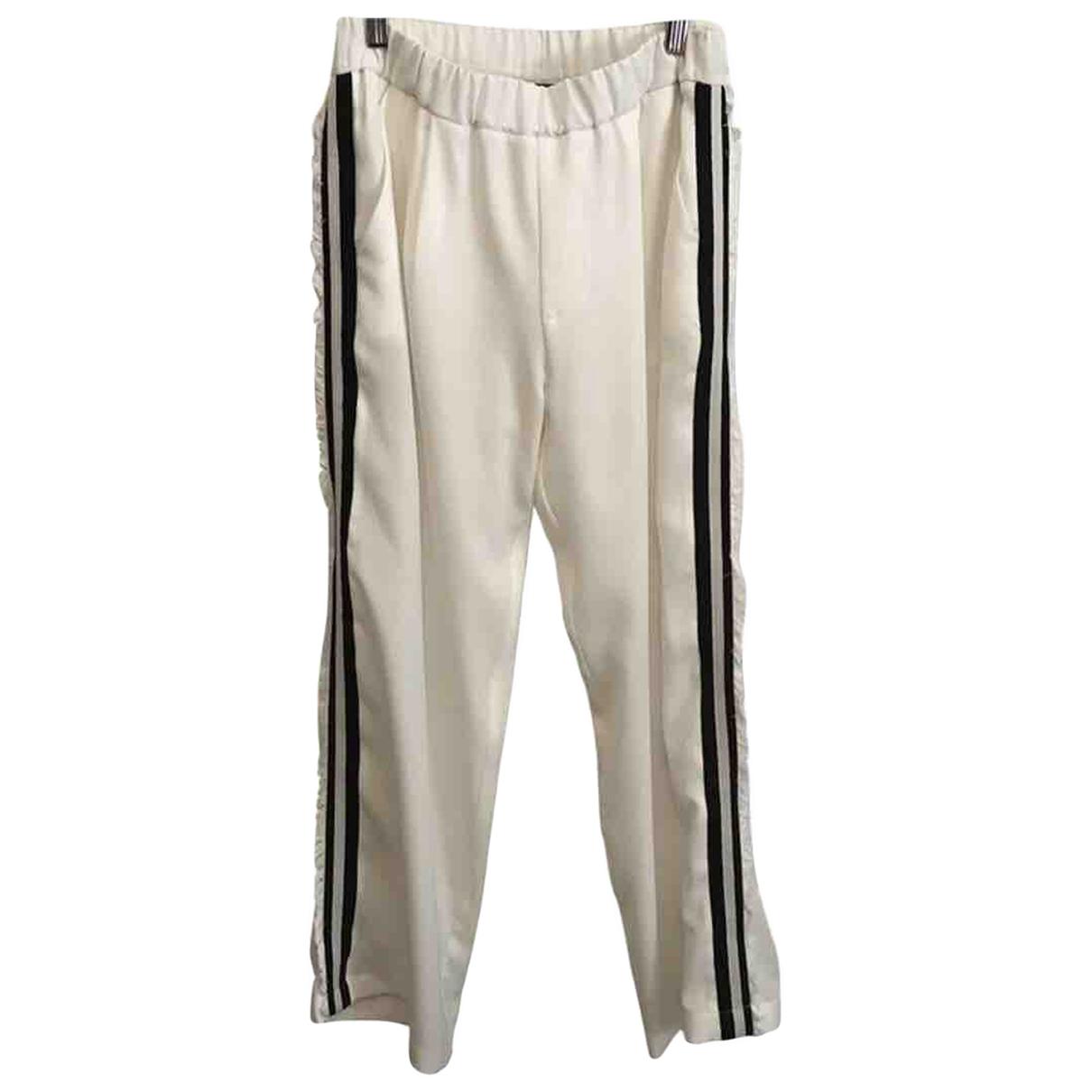 Pantalon en Poliester Blanco John Richmond