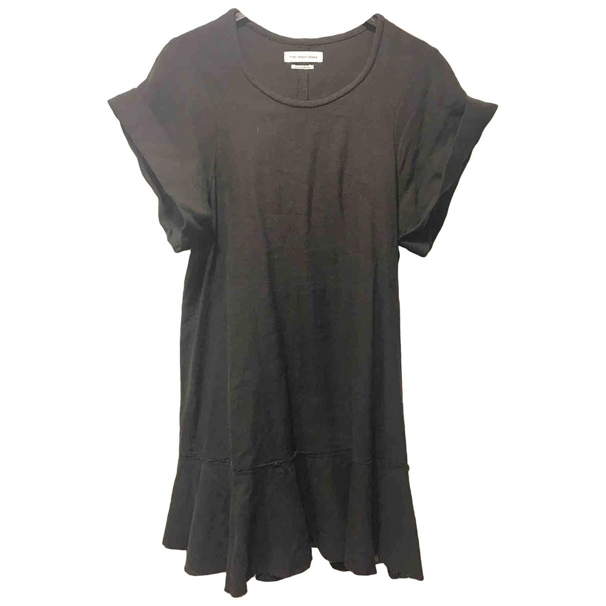 Isabel Marant Etoile \N Kleid in  Schwarz Leinen