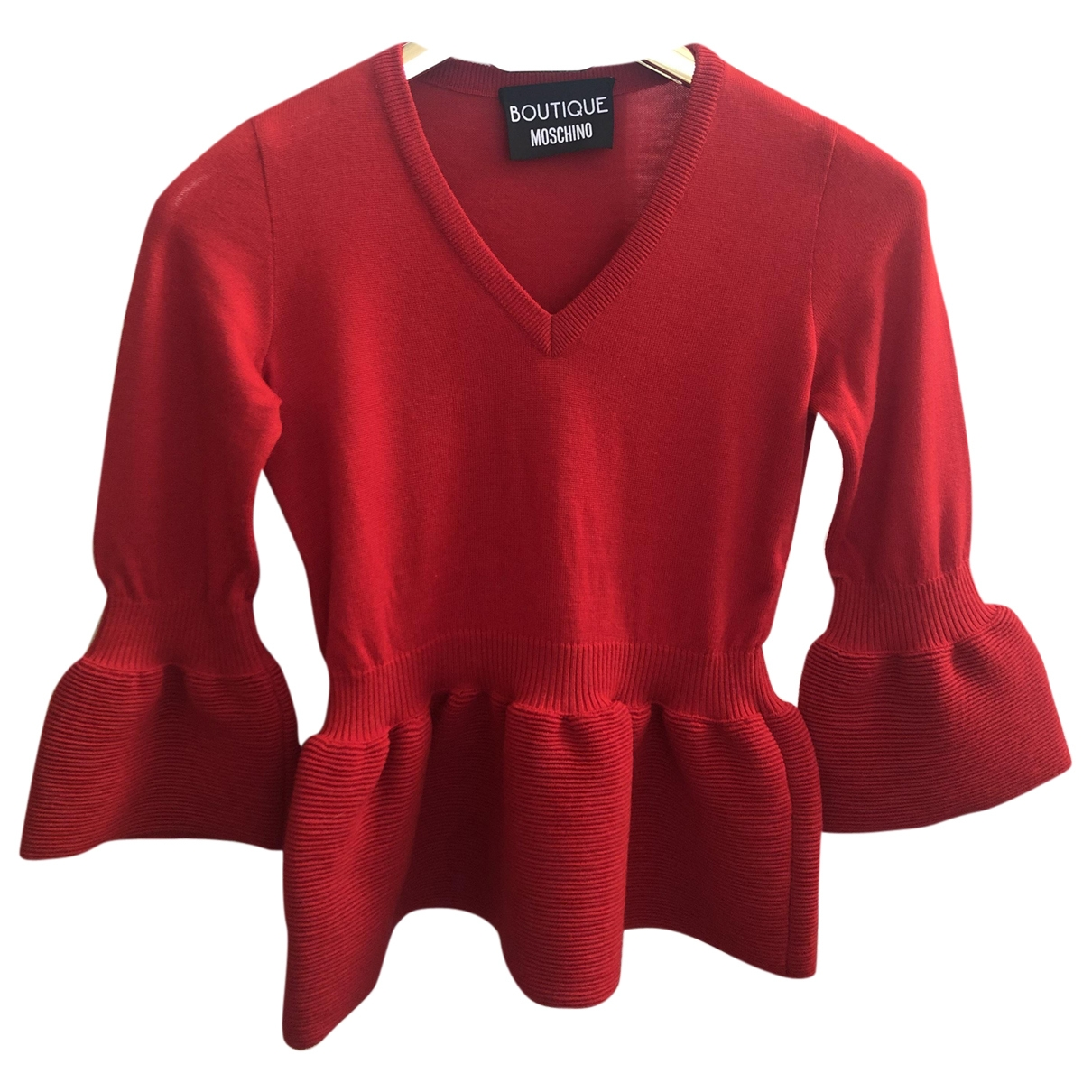 Moschino Cheap And Chic \N Red Wool Knitwear for Women 40 IT