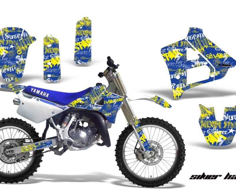 AMR Racing Dirt Bike Graphics Kit Decal Sticker Wrap For Yamaha YZ125 YZ250 1991-1992áSSSH YELLOW BLUE