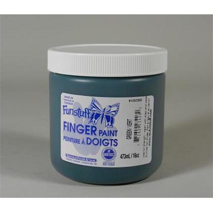 Funstuff@ Washable Finger Paint, 473ml, 8 Colours Available - Green 185017