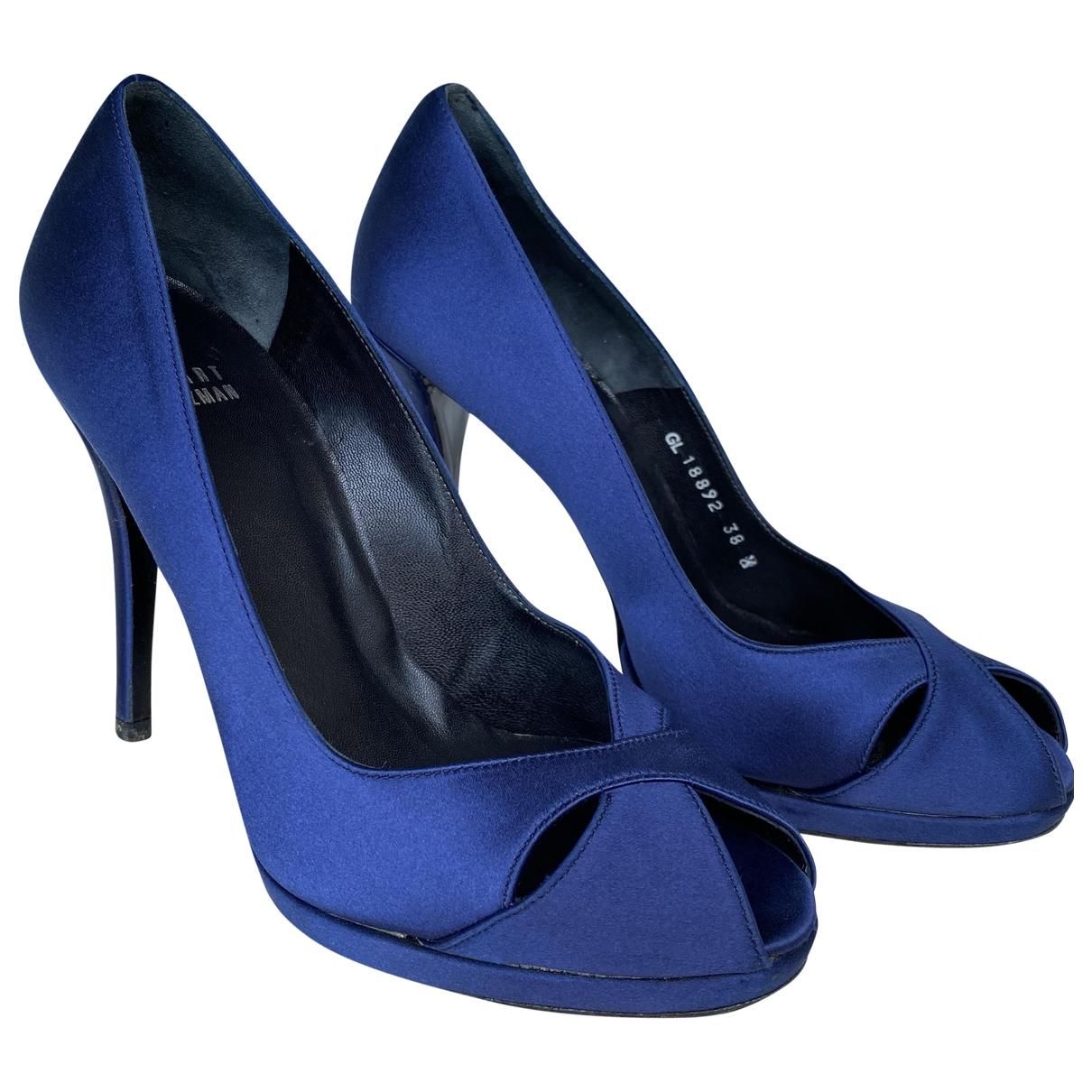 Stuart Weitzman - Escarpins   pour femme en toile - bleu