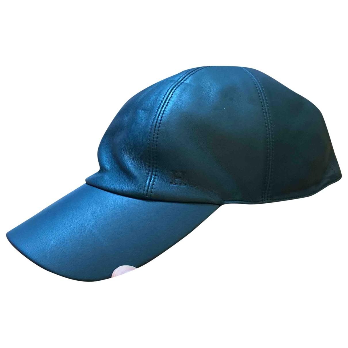 Hermes - Chapeau & Bonnets   pour homme en cuir - bleu