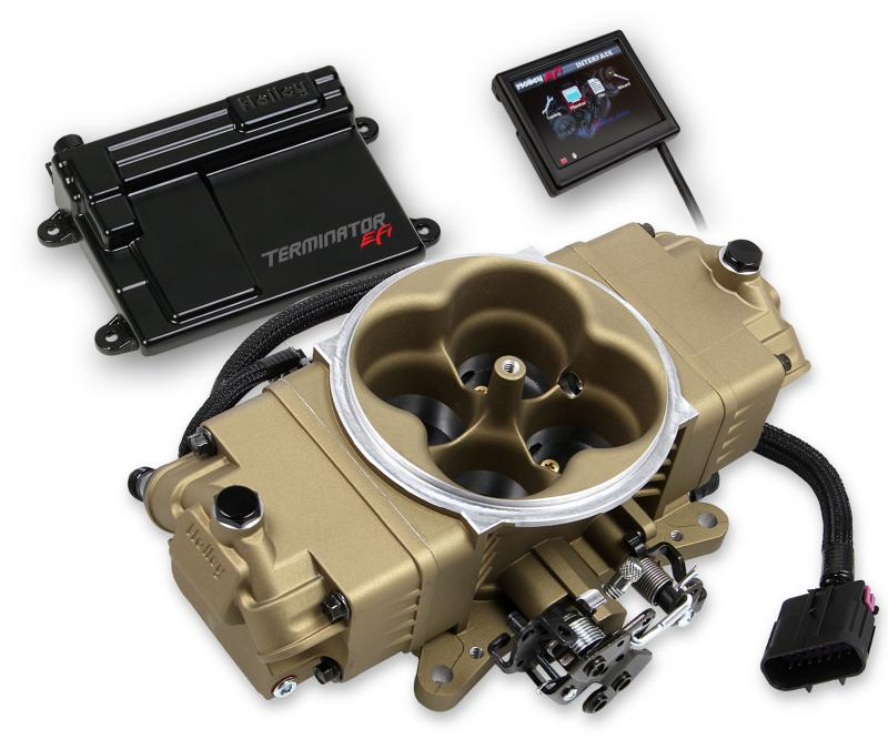Holley EFI 550-444 TERMINATOR STEALTH EFI KIT - GOLD