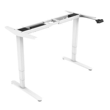Assis-debout hauteur réglable de bureau à double-moteur - blanc - PrimeCables