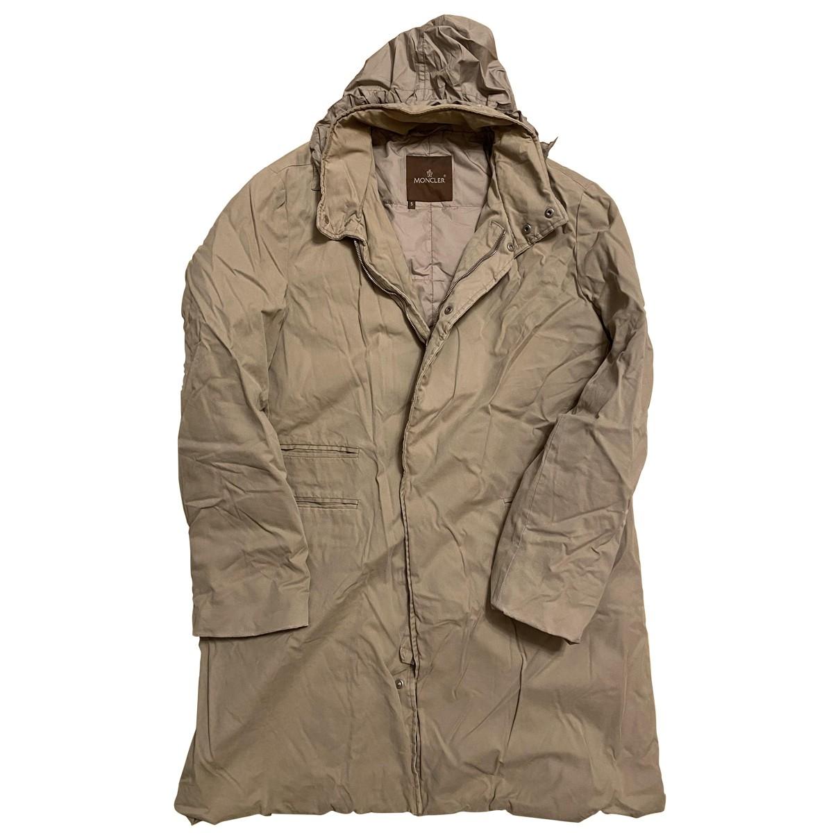 Moncler - Manteau Classic pour homme en cuir - beige