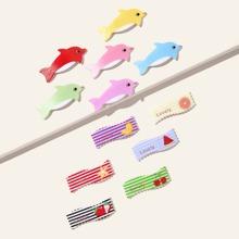 12 piezas horquilla de niñitas con diseño de dibujos animados