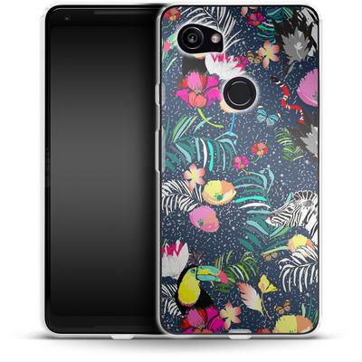 Google Pixel 2 XL Silikon Handyhuelle - Jungle Glow von Mukta Lata Barua
