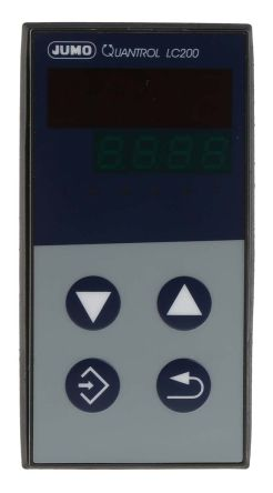 Jumo QUANTROL PID Temperature Controller, 48 x 96mm 1 (Analogue) Input, 2 Output Logic, Relay, 110 → 240 V ac