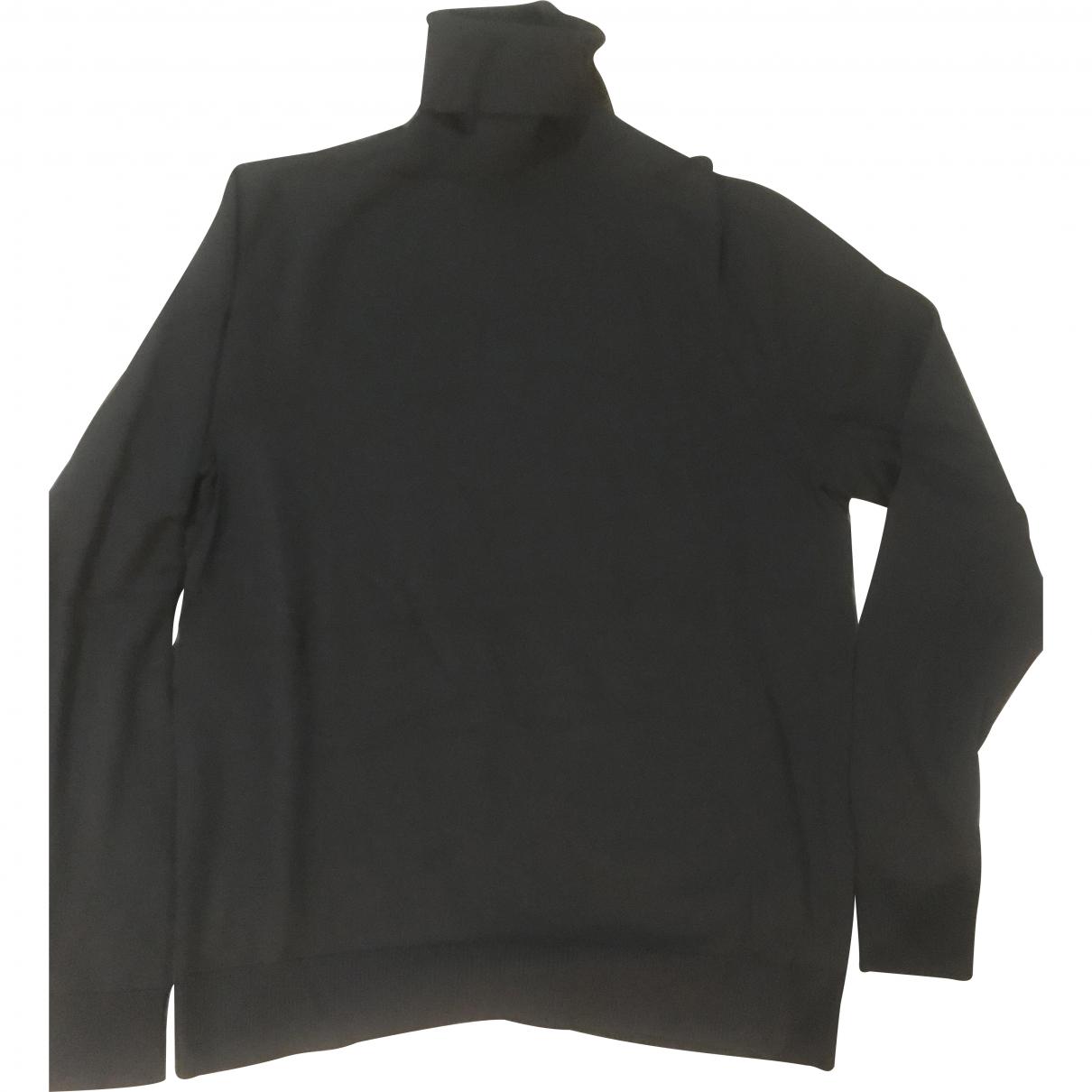 Helmut Lang \N Pullover.Westen.Sweatshirts  in  Anthrazit Wolle