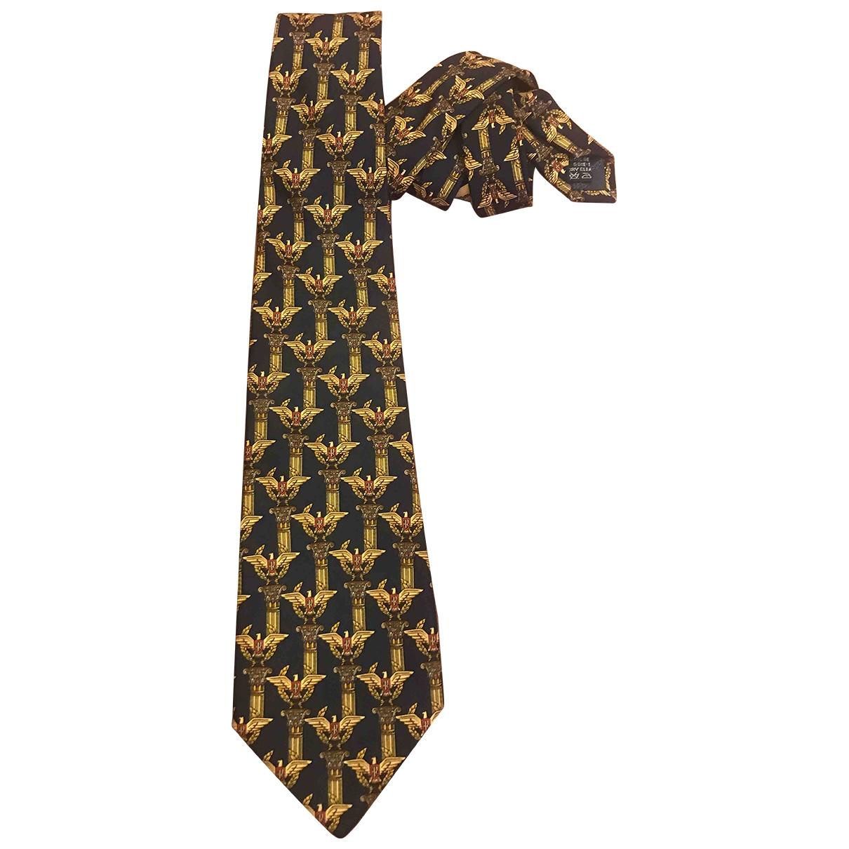 Salvatore Ferragamo \N Krawatten in  Blau Seide