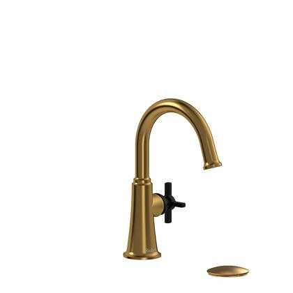 Momenti MMRDS01+BGBK-10 Single Hole Lavatory Faucet with + Cross Handle 1.0 GPM  in Brushed