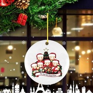 2020 New Christmas Tree Decoration Lighted Pendant Faceless Old Man - 3.93x3.93x0.39 inch (A)