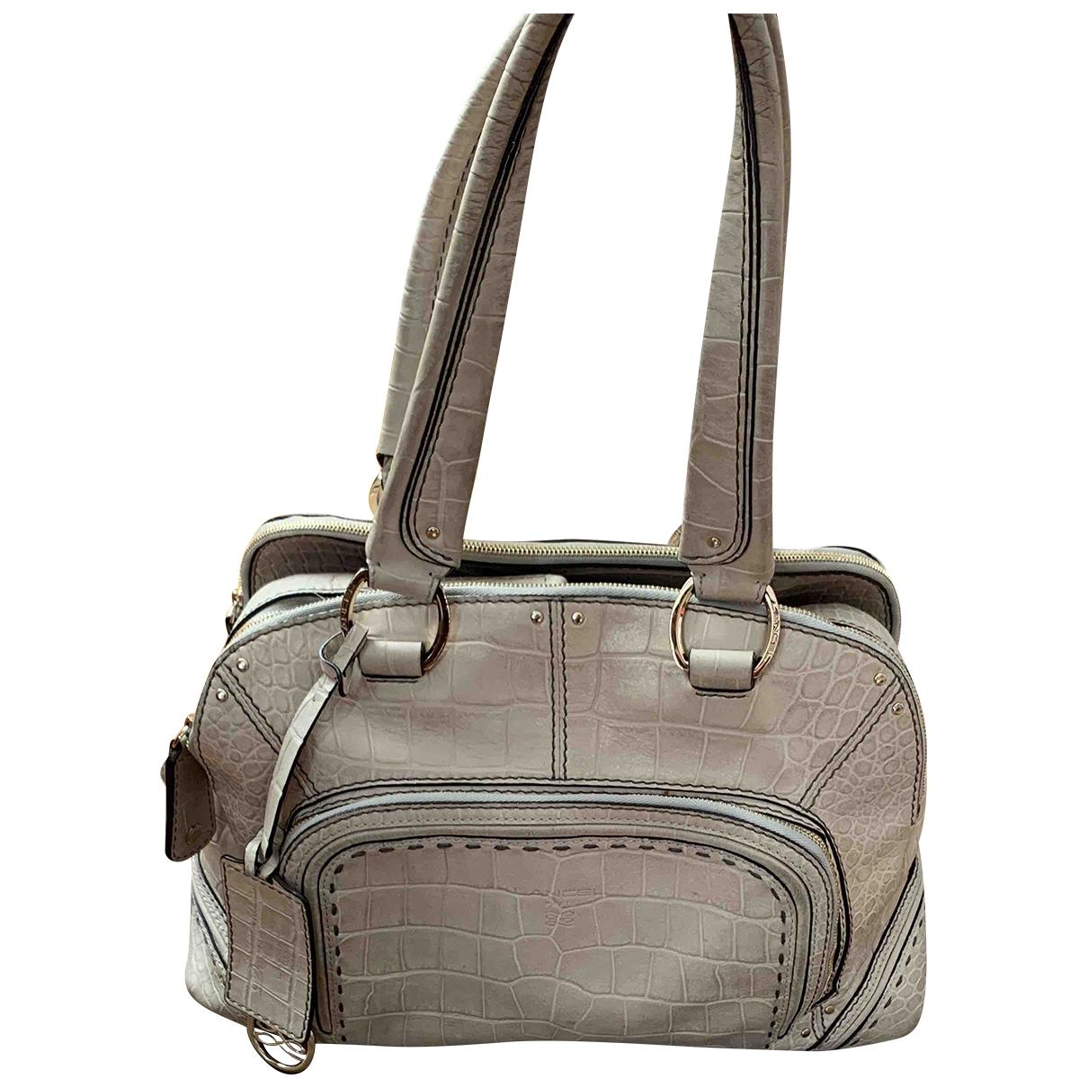 Lancel Mademoiselle Adjani Grey Leather handbag for Women \N