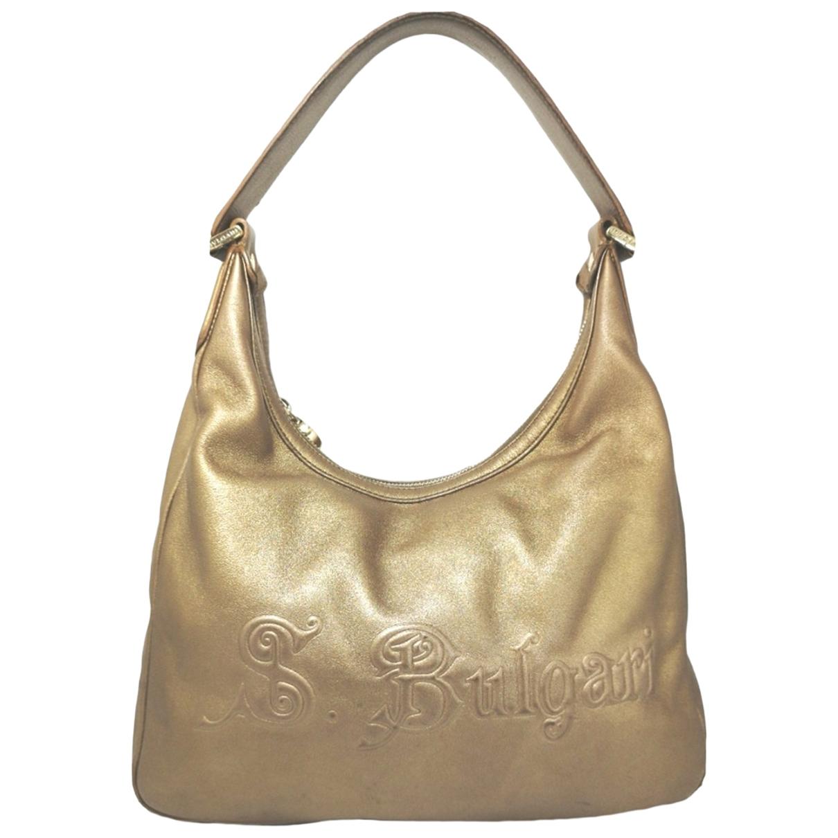Bvlgari \N Gold Leather handbag for Women \N