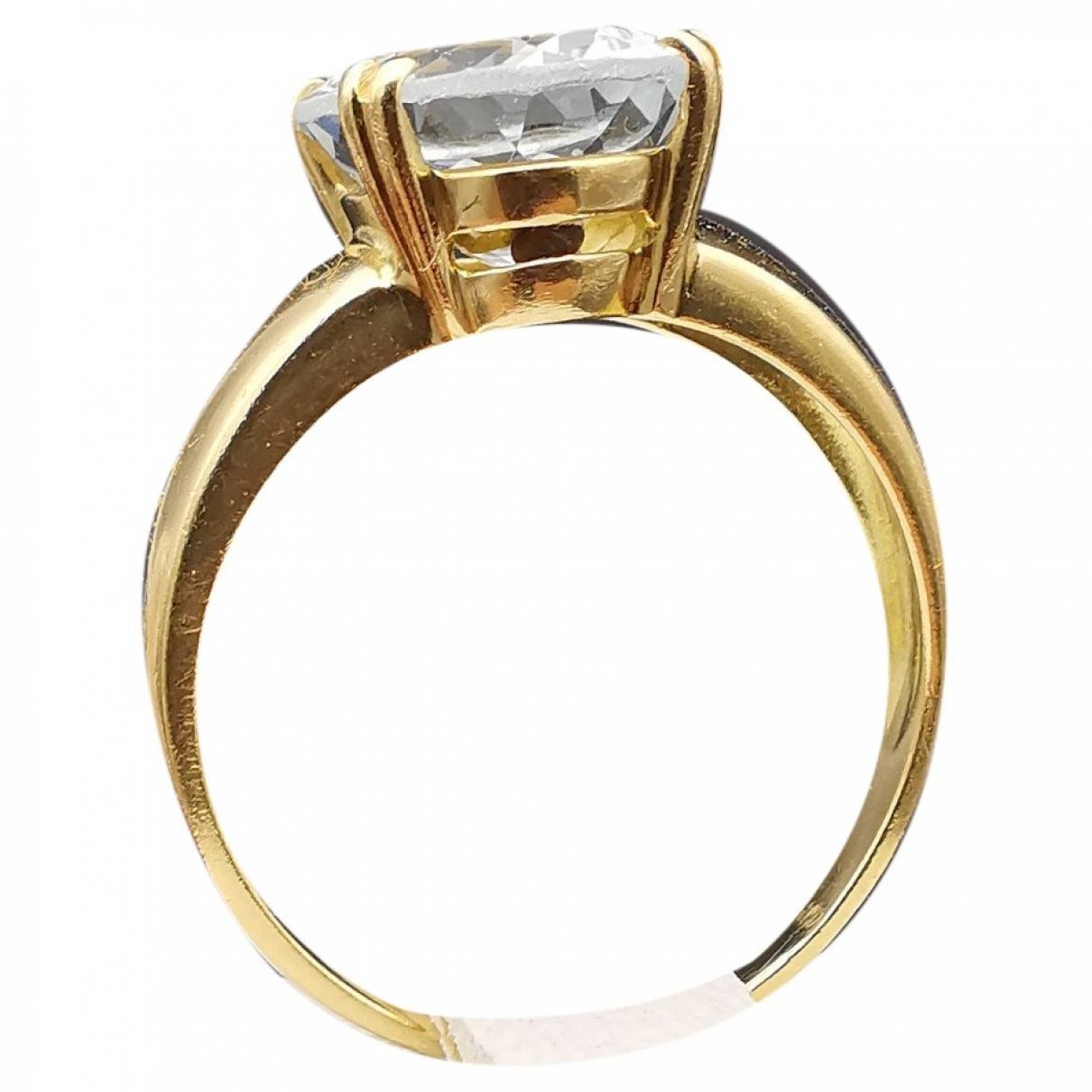 Non Signé / Unsigned Aigues-Marines Gold Yellow gold ring for Women 56 MM