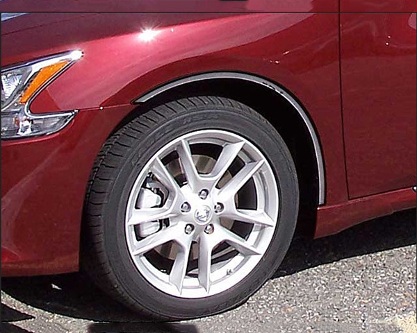 Quality Automotive Accessories 4-Piece Stainless Steel Wheel Well Fender Trim Kit Nissan Maxima 2013