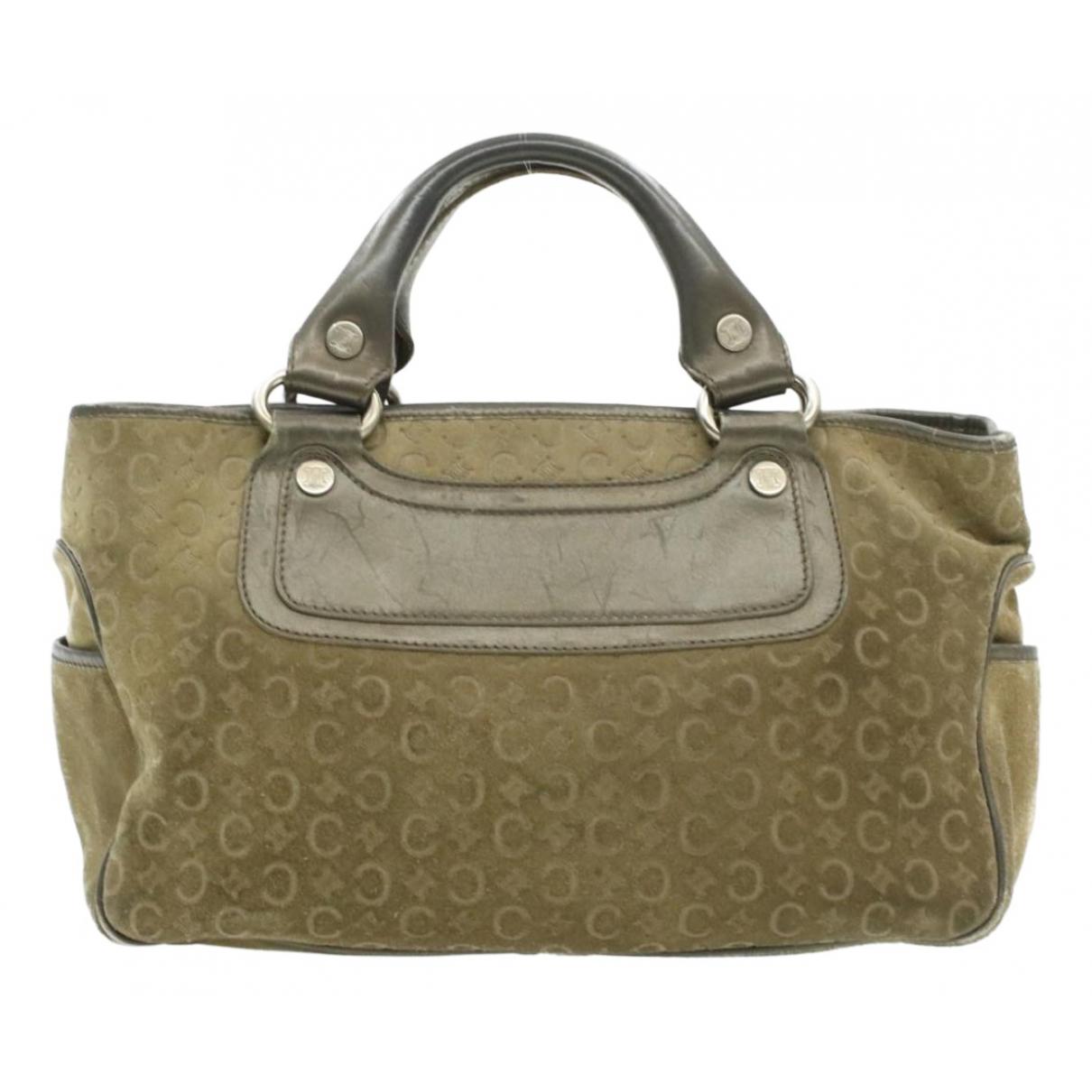 Celine N Khaki Cloth handbag for Women N