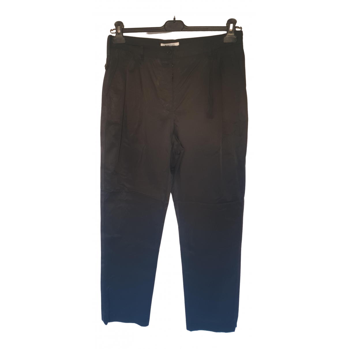 Givenchy \N Black Cotton Trousers for Women 44 FR