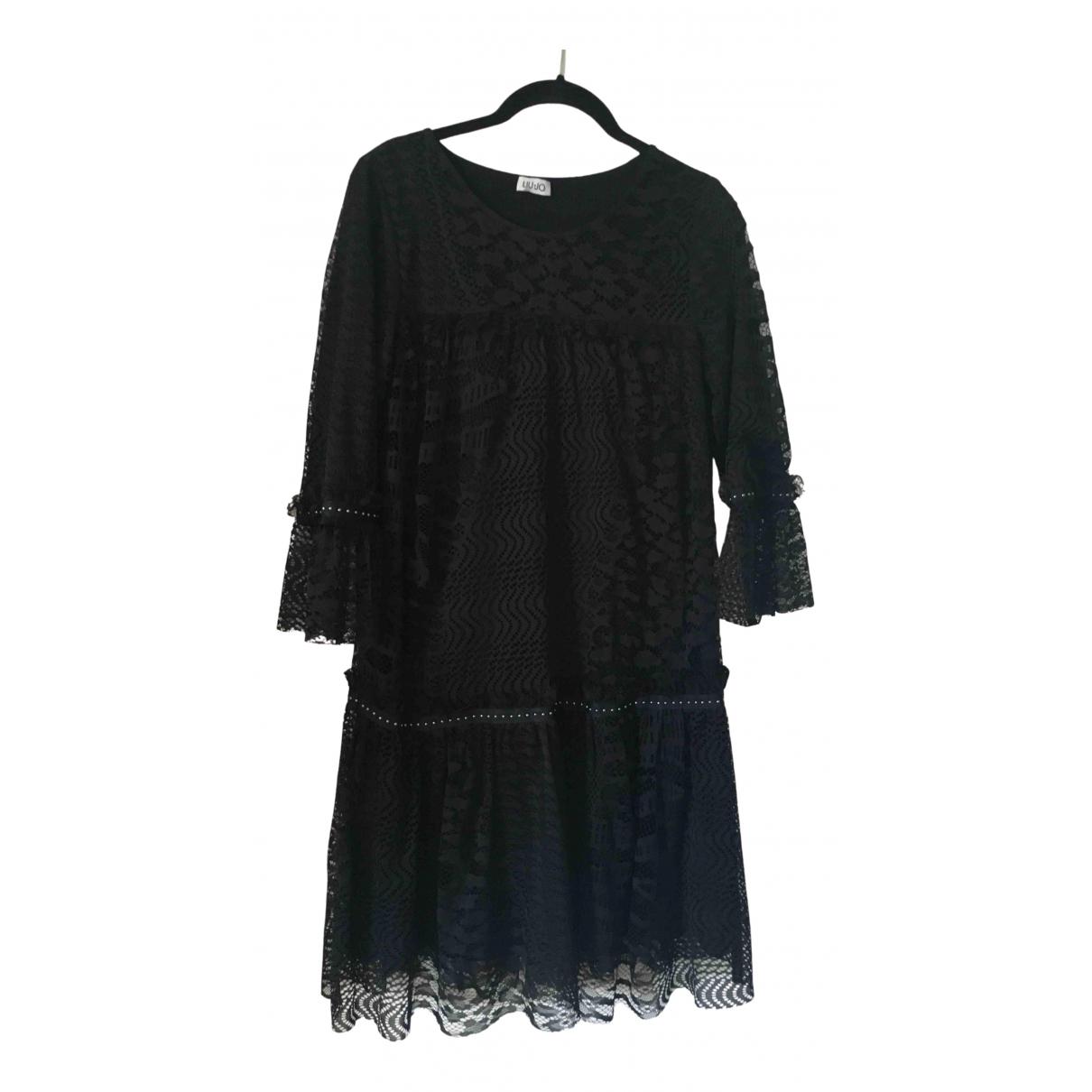 Liu.jo - Robe   pour femme en dentelle - noir