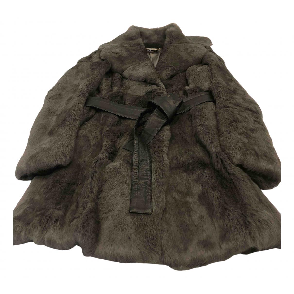 Dolce & Gabbana \N Grey Fur coat for Women 44 IT